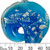 Large Blue Freeform Foil Glass Pendant