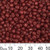 6/0 Opaque Brick Red Glass Seed Beads