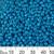 8/0 Opaque Dark Aqua Seed Beads