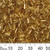 Gold 5mm Bugle Beads
