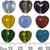 12mm Heart Glass Bead Mix