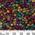 6/0 Opaque Metallic Rainbow Seed Beads