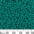 8/0 Opaque Turquoise Green Japanese Seed Beads