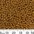 8/0 Galvanised Gold Japanese Seed Beads