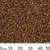 11/0 Dark Amber S/L Seed Beads