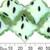 Peppermint Green Dalmatian Glass Star Bead Strands