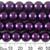 10mm Royal Purple Glass Pearl Strands