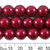 12mm Deep Red Glass Pearl Strands