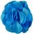 80mm Bright Aqua Glitter Fabric Flower