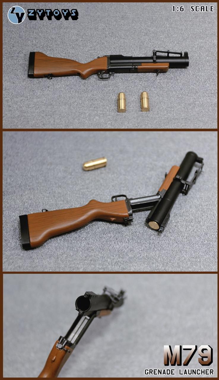 Toys City-62014b 1:6 Scale SOF Black Combat Assault Rifle Set for Action Figure