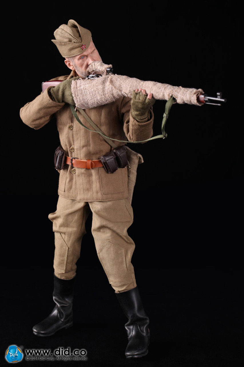SGT Koulikov Russian Sniper 1//6 Scale DID Action Figures Trigger  Hands