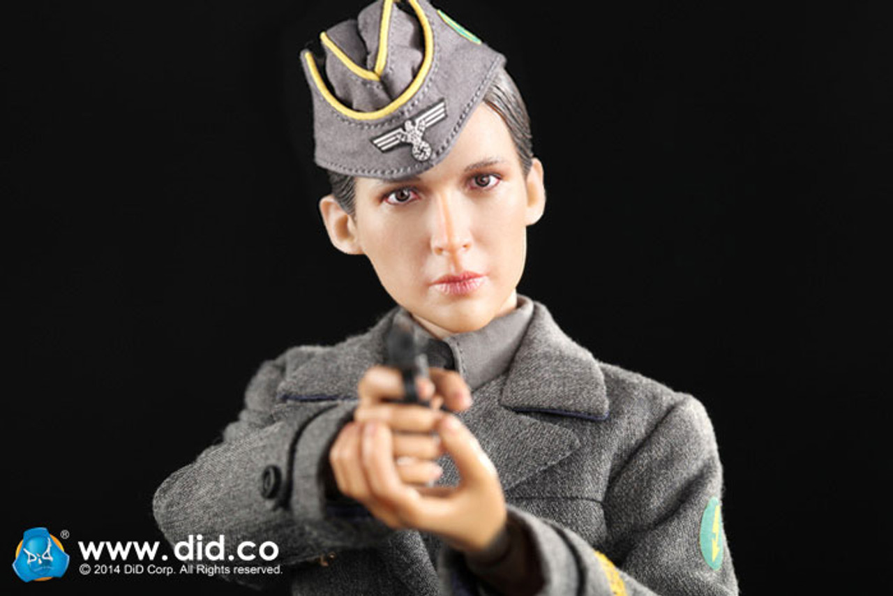 1//6 scale toy WWII Pistol w//Suppressor German Typist Sophie