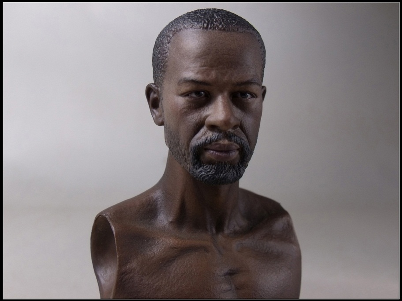 1/6 Articulated Body Character Head African American WB