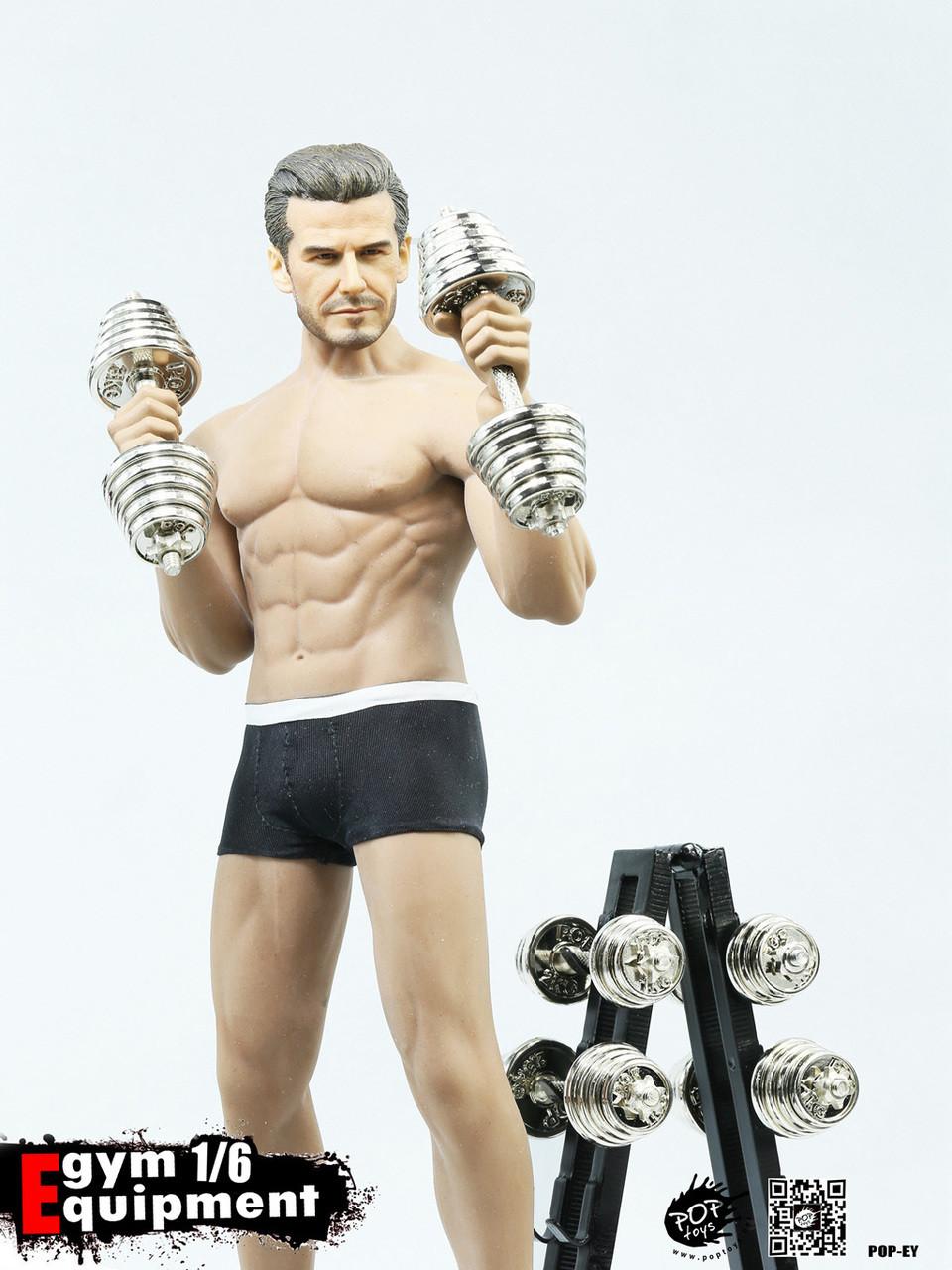 POPTOYS 1//6 action figure toys Fitness equipment Dumbbell dumbbell rack suits