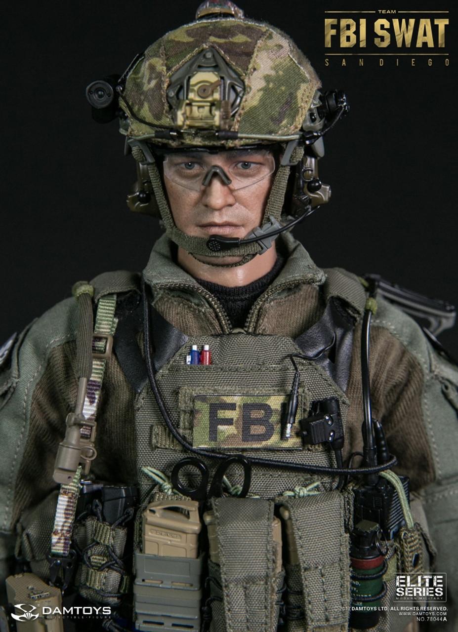DAMTOYS Helmet Set HOSTAGE RESCUE TEAM FBI AGENT 1//6 ACTION FIGURE TOYS dam did