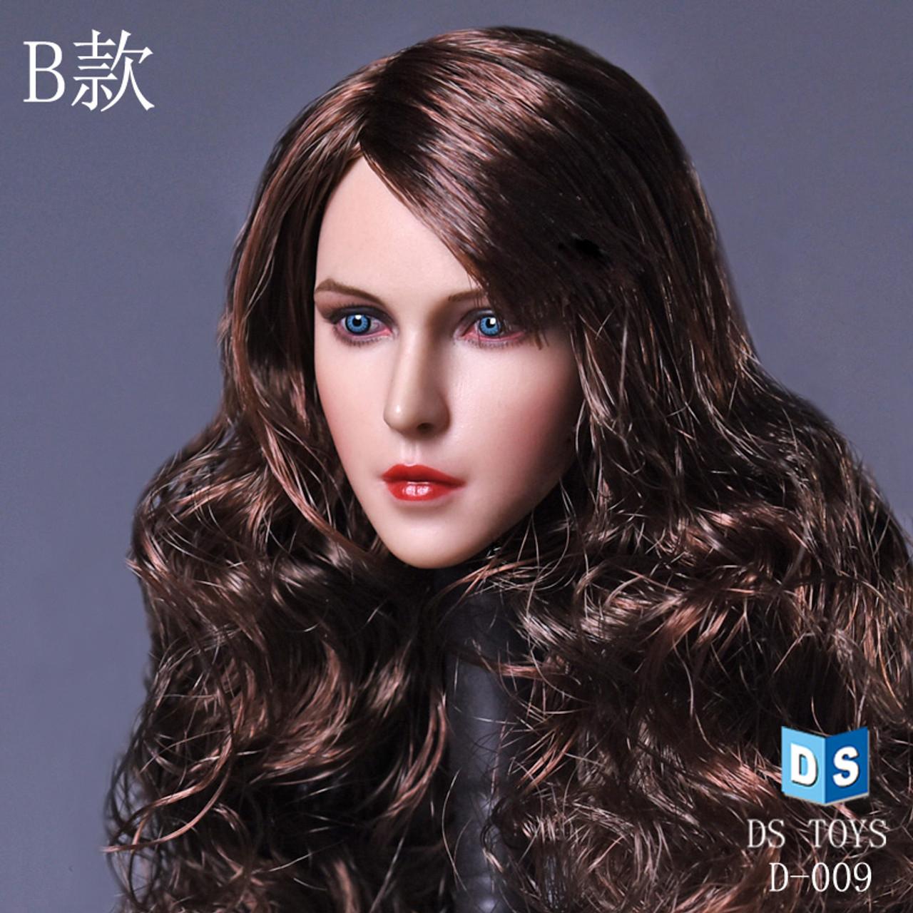 DSTOYS 1//6 Scale D005 Female Women Curls Head Sculpt F 12/'/' Phicen Body Figure