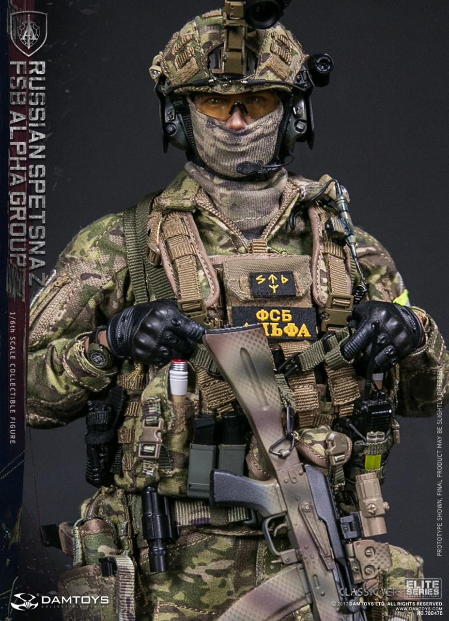DAM Toys 78064 Elite Series Russa SPETSNAZ FSB ALFA GRUPPO 1//6 Figura