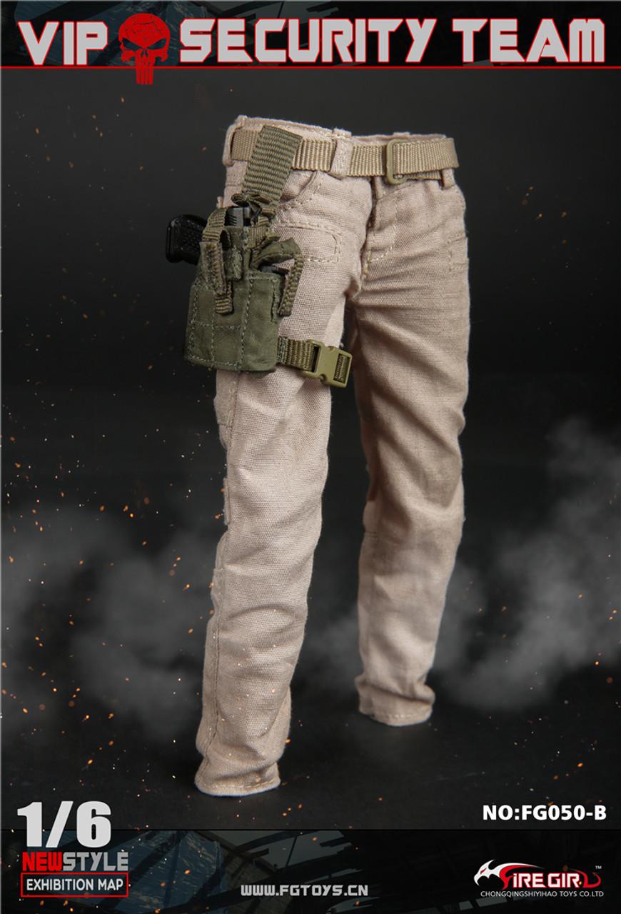 1//6 Scale Toy VIP Security Assurance Team Female Black Combat Pants