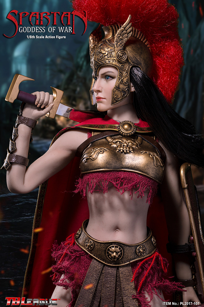 1//6 Scale TBLeague Phicen PL2017-107 Spartan Goddess Metal Machete /& Shield Set