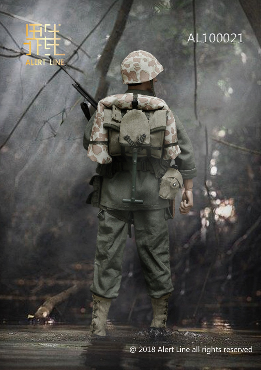 Alert Line USMC helmet with camo cover 1//6th scale toy accessory