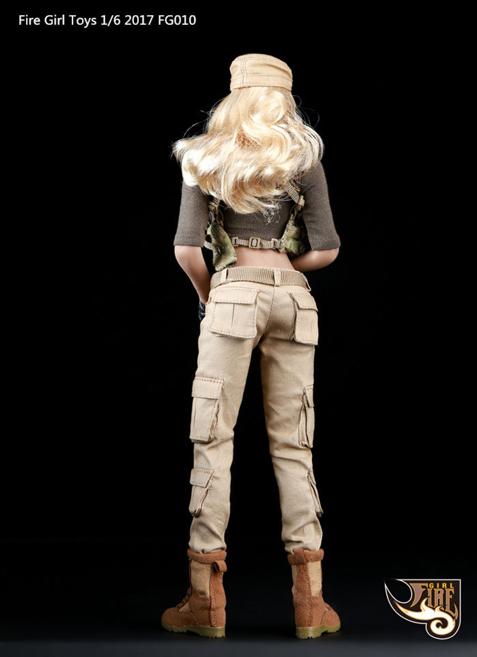 1//6 Scale Toys VIP Security Assurance Team Female Tan Khaki Combat Pants