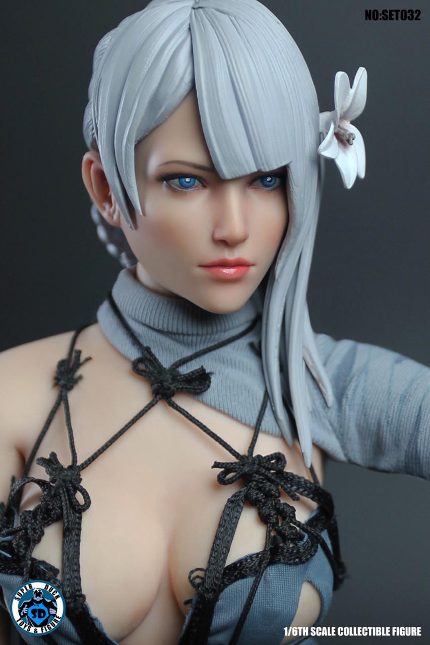 Super Duck SET017 1//6 Cyborg Cosplay Revealing Set Figure Clothes w// Head body