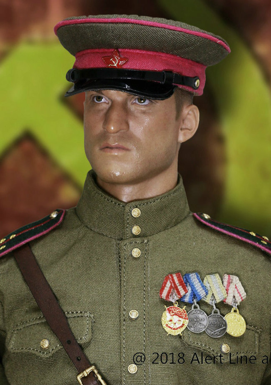 Alert Line AL100023 WWII Soviets Red Army Infantry Lieutenant Officer Set 1//6