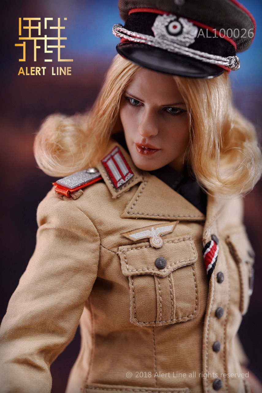 Very Cool Action Figures Female SS Officer Neck Tie w// Badge 1//6 Scale