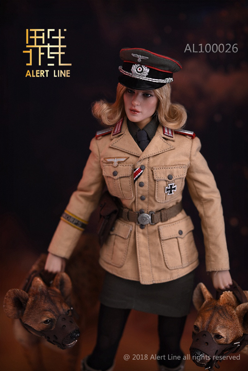 Afrika Korps Female Officer Figure 1//6 Alert Line Boxed figure AL100026