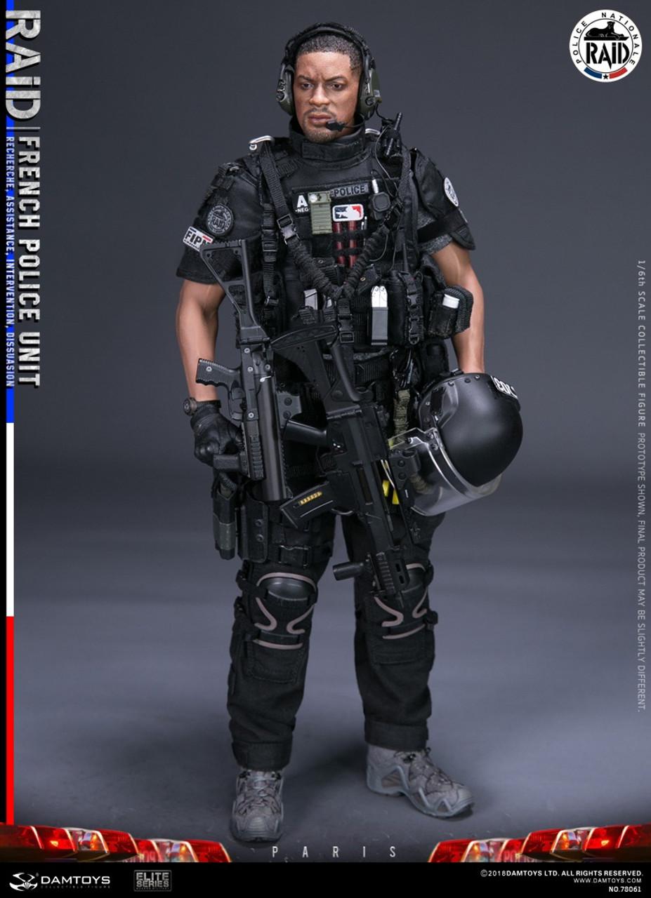 DAMTOYS DAM78061 1//6th French Police Unit Raid in Paris Radio headset model
