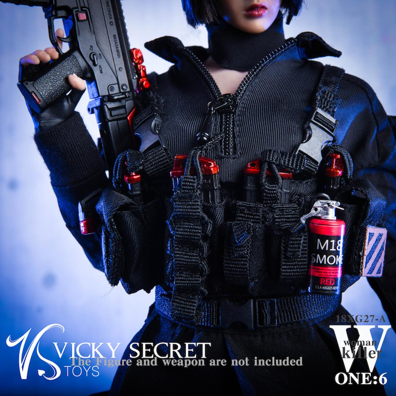 VSTOYS 1//6th 18XG27 Female Assassin Women Killer Combat Clothing Set Model Toys