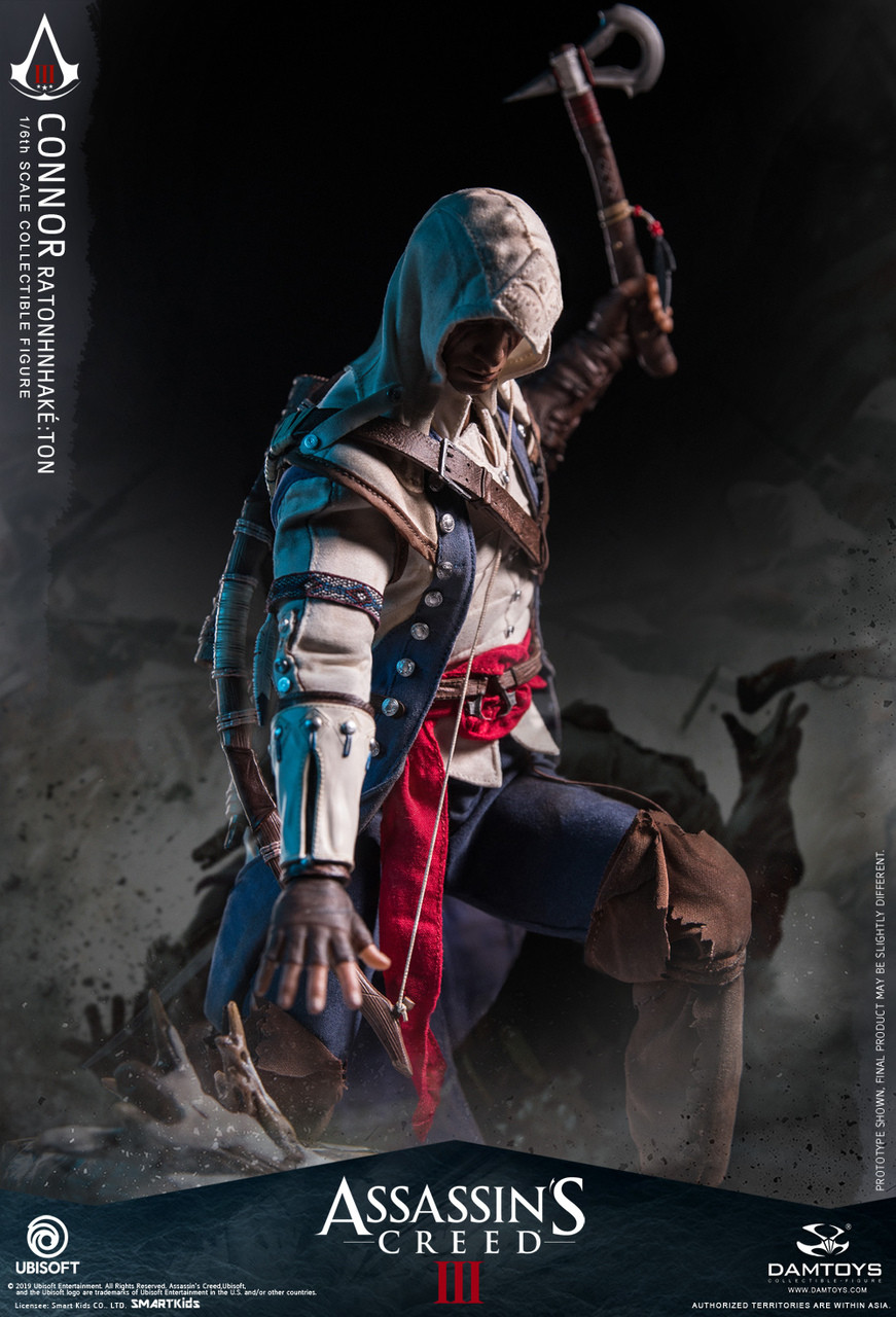 """1//6 Scale Toy Assassins Creed 3 Connor Belt w///""""A/"""" Logo"""