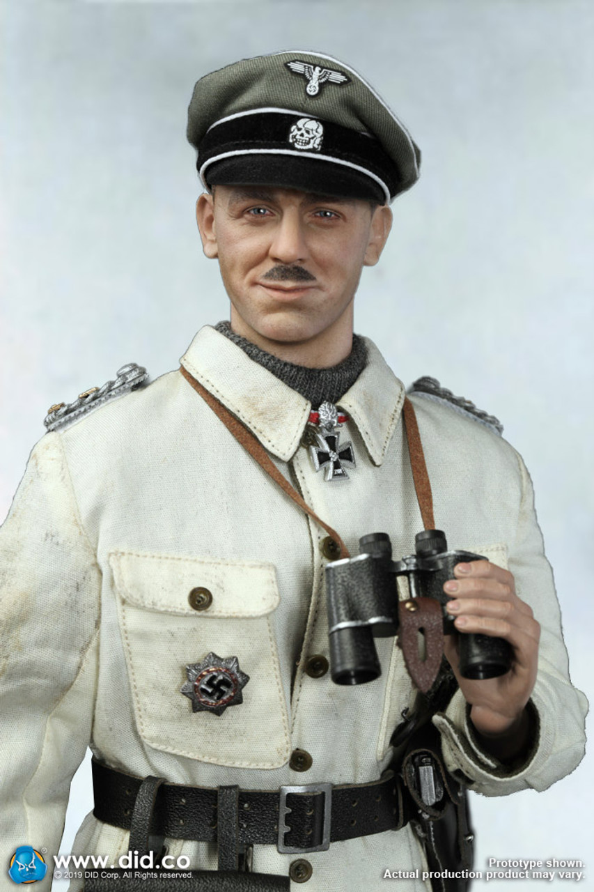 "DID D80137 1//6 Scale SS Obersturmbannführer Kurt Meyer 12/"" Figure Crusher Cap"