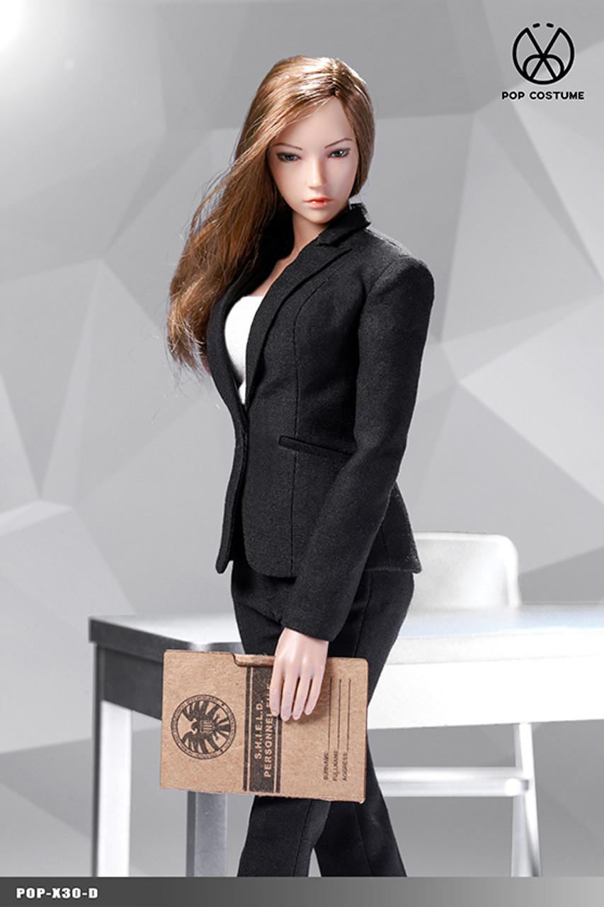 POPTOYS X30 1//6 Scale POP COSTUME Office Lady Female Suit Pants Ver C Blue