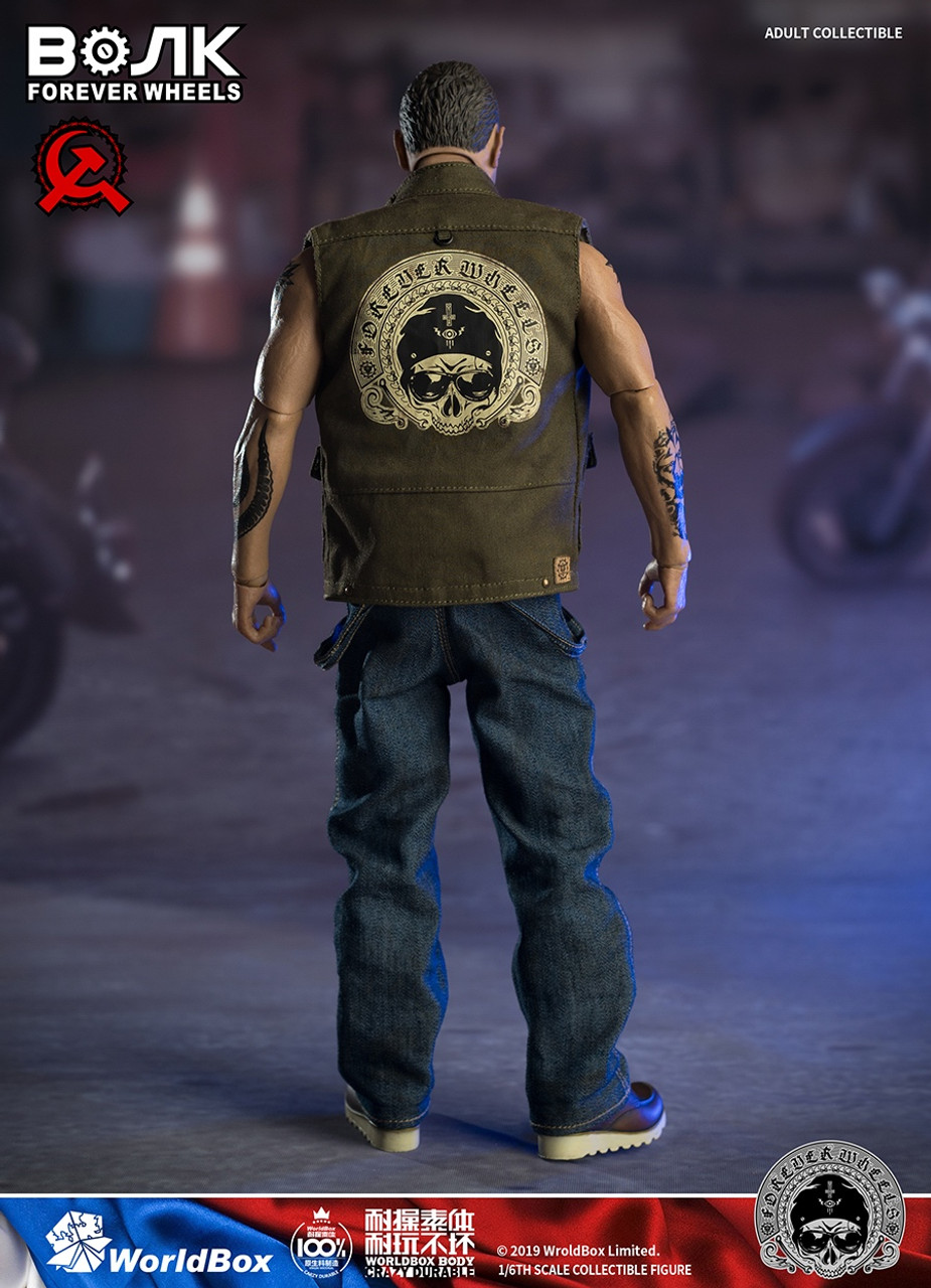Overalls for WorldBox AT031 Motor Mechanic 1//6 Scale Action Figure 12/'/'