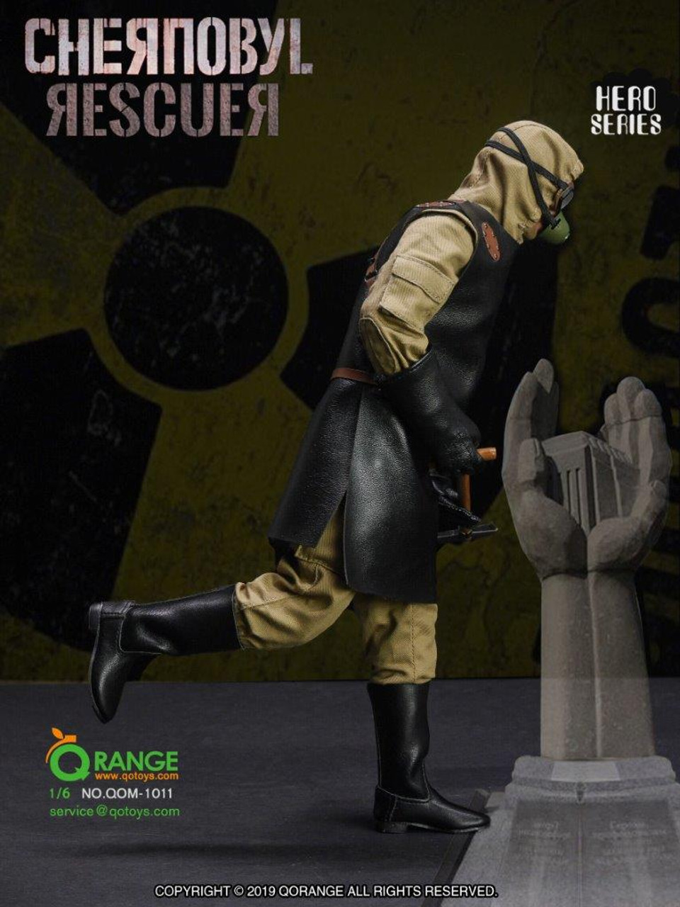 QOTOYS QOM-1012 1//6 Chernobyl Scavenger RESCUER Clothes Set for 12/'/' Figure Doll