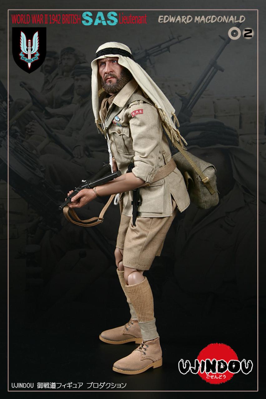 UJINDOU U9002 1//6 WWII British SAS Lieutenant EDWARD MACDONALD WEBLEY MK4 PISTOL