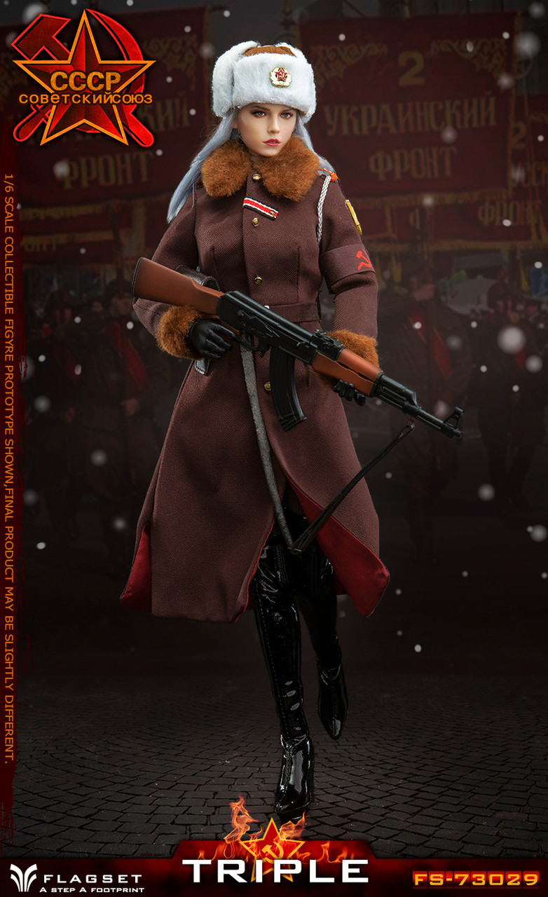 FLAGSET FS-73029 WWII Red Alert Soviet Army Female Officer Katyusha 1//6 FIGURE