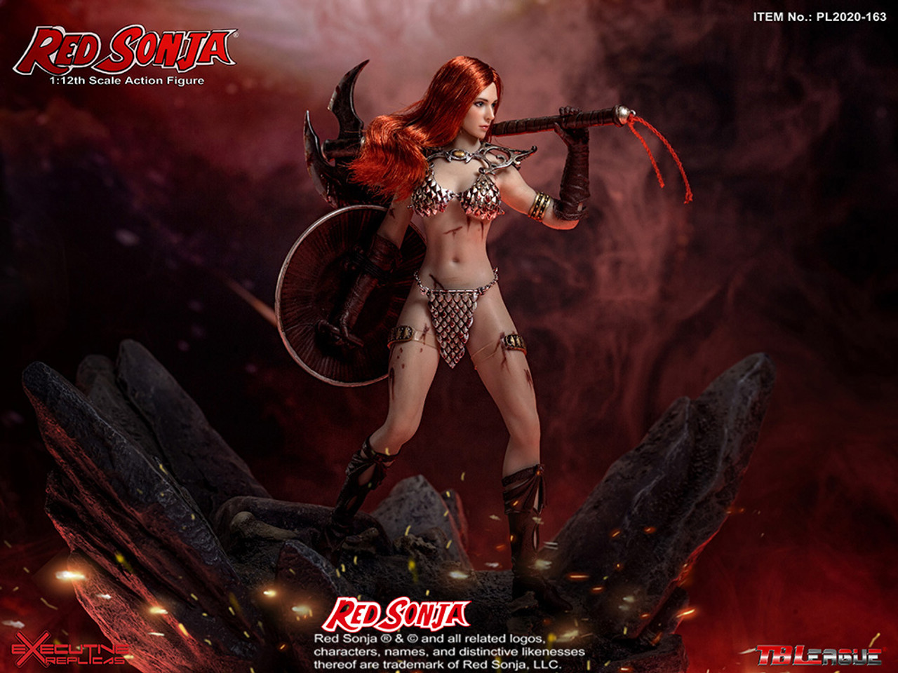 TBLeague PL2020-163 1//12 Scale Red Sonja Boots Model