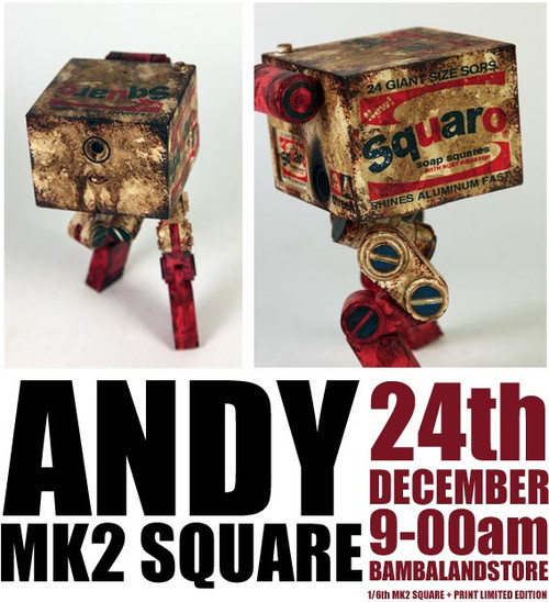 [3A-ANDY] THREEA Ashley Wood WWR Andy The MK2 Square Squaro Brillo