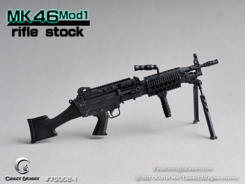 CRAZY DUMMY 1/6 MK46 MOD1 Rifle Stock - Black