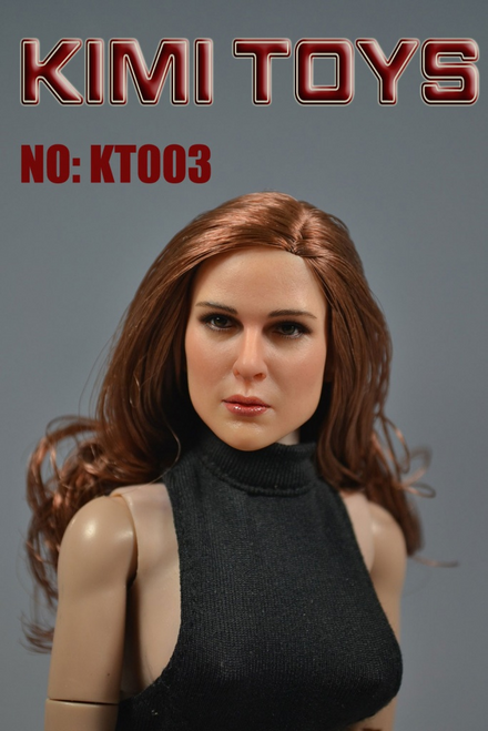 [KT-003] Kimi Toyz European and American Female Headsculpt for 1:6 Scale Figures