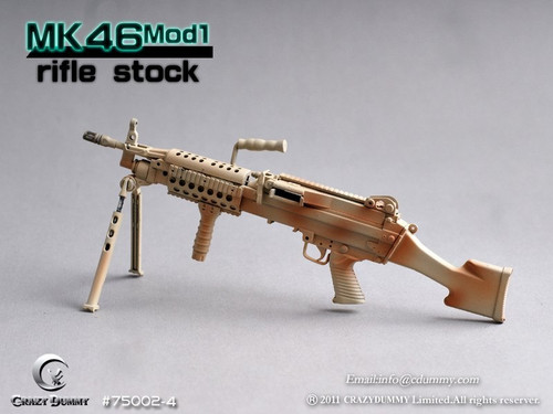 CRAZY DUMMY 1/6 MK46 MOD1 Rifle Stock - Camouflage (CD-75002-4)