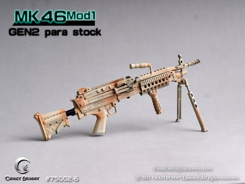 CRAZY DUMMY 1/6 MK46 MOD1 Gen2 Para Stock - Camouflage (CD-75002-6)