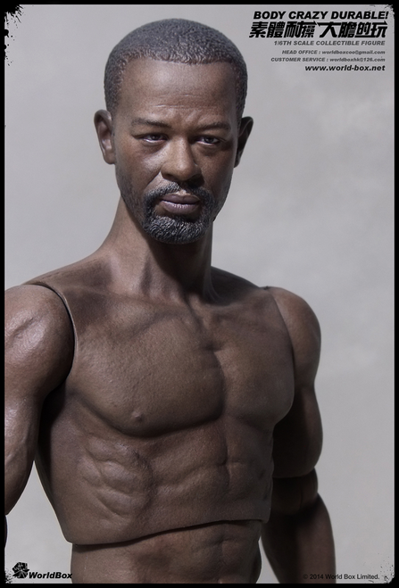 [WB-AT004] World Box Articulated Male Body with Character Head African American