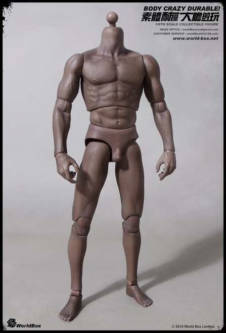 [WB-AT005] World Box Articulated Male Body African American