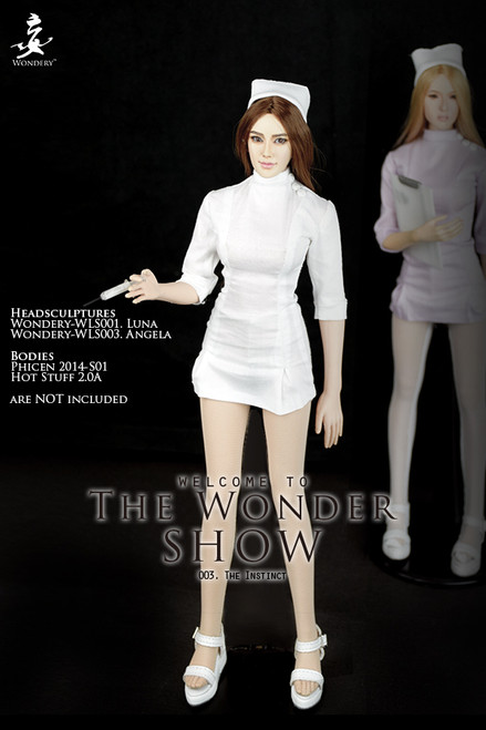 "[WLS-TWS003A] Wonder Show 003 ""The Instinct"" 1/6 Nurse Female Figure Costume in White by Wondery"