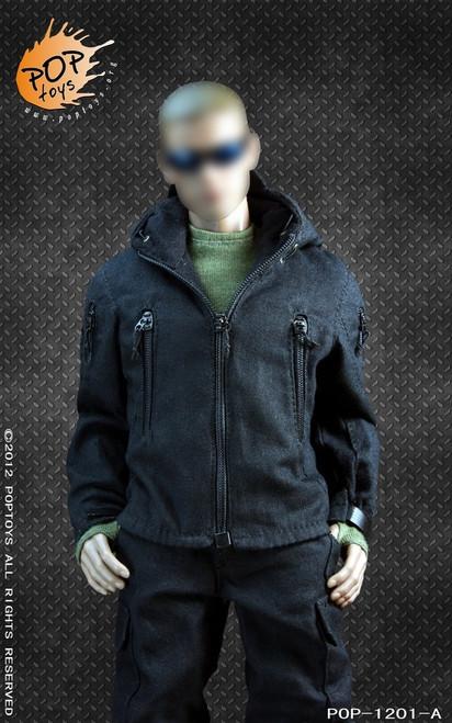 [POP-1201A] POP Toys 1/6 Scale TAD Uniform Set in Black