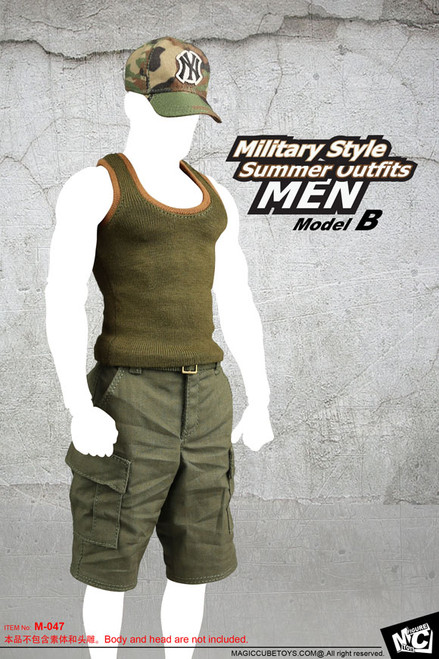 [MC-F047B] MC Toys Military Style Summer Outfits in Green for Action Figure