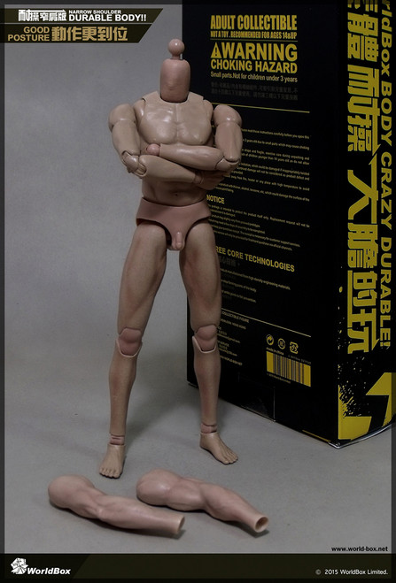 [WB-VT003] World Box Durable Narrow Shoulder Body Action Figure Body